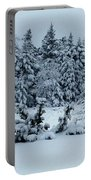 Natures Handywork - Snowstorm - Snow - Trees Portable Battery Charger