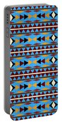 Navajo Blue Pattern Portable Battery Charger