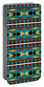 Navajo Teal Pattern Portable Battery Charger