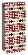 Navajo White Pattern Portable Battery Charger