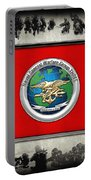 Naval Special Warfare Group Three - N S W G-3 - Over Navy S E A Ls Collage Portable Battery Charger