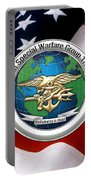 Naval Special Warfare Group Three - N S W G-3 - Over U. S. Flag Portable Battery Charger