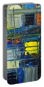Near The Sunrise - Abstract Original Painting - Abwgc1 Portable Battery Charger