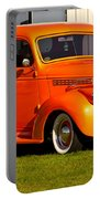 Neat Vintage Chevrolet Truck In Bright Orange Portable Battery Charger