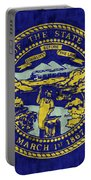 Nebraska Flag Portable Battery Charger by World Art Prints And Designs