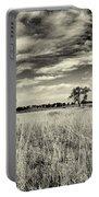 Nebraska Prairie One In Black And White Portable Battery Charger