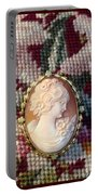 Needle Work Cameo Portable Battery Charger