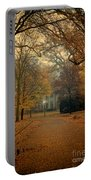 Neighborhood Street In Autumn Portable Battery Charger