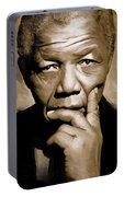 Nelson Mandela Artwork Portable Battery Charger