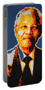 Nelson Mandela Lego Pop Art Portable Battery Charger