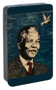Nelson Mandela Man Of Peace Portable Battery Charger