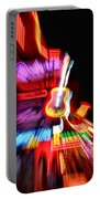 Neon Burst In Downtown Nashville Portable Battery Charger by Dan Sproul