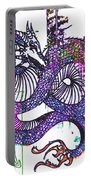 Neon Dragon In High Contrast Portable Battery Charger