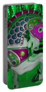 Neon Green Carousel Horse Portable Battery Charger