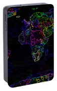 Neon World Map Portable Battery Charger
