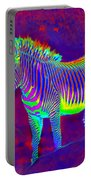 Neon Zebra Portable Battery Charger