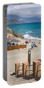 Nerja Beach In Spain Portable Battery Charger