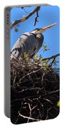 Nesting Great Blue Heron Portable Battery Charger