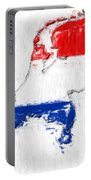 Netherlands Painted Flag Map Portable Battery Charger