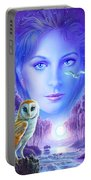New Age Owl Girl Portable Battery Charger