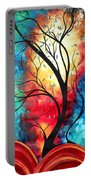 New Beginnings Original Art By Madart Portable Battery Charger by Megan Duncanson