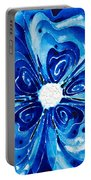 New Blue Glory Flower Art - Buy Prints Portable Battery Charger