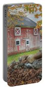 New England Barn Portable Battery Charger by Bill Wakeley