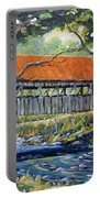 New England Covered Bridge By Prankearts Portable Battery Charger by Richard T Pranke