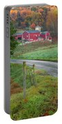 New England Farm Portable Battery Charger by Bill Wakeley
