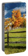 New England Farm With Autumn Sugar Portable Battery Charger