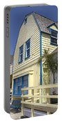 New England Style Building At Fisherman's Village Marina Del Rey Los Angeles Portable Battery Charger