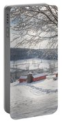 New England Winter Farms Morning Square Portable Battery Charger
