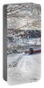 New England Winter Farms Square Portable Battery Charger