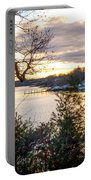 New England Winter Sunset Portable Battery Charger