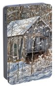 New England Winter Woods Portable Battery Charger