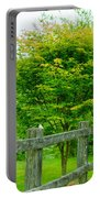 New England Wooden Fence Portable Battery Charger