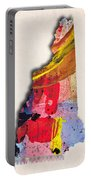 New Hampshire Map Art - Painted Map Of New Hampshire Portable Battery Charger
