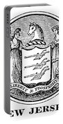 New Jersey State Seal Portable Battery Charger