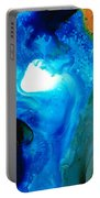 New Life - Abstract Landscape Art Portable Battery Charger