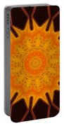 New Media Art Marigold On Mocha Kaleidoscope  Portable Battery Charger