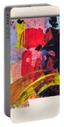 New Mexico Map Art - Painted Map Of New Mexico Portable Battery Charger