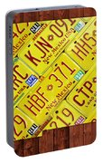 New Mexico State License Plate Map Portable Battery Charger