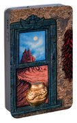 New Mexico Window Gold Portable Battery Charger