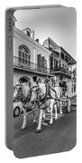 New Orleans Funeral Monochrome Portable Battery Charger