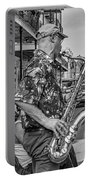New Orleans Jazz Sax Bw Portable Battery Charger