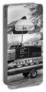 New Orleans - Lucky Dogs Bw Portable Battery Charger by Steve Harrington
