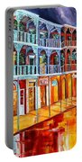 New Orleans Reflections In Red Portable Battery Charger