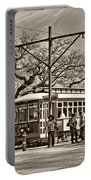 New Orleans Streetcar Sepia Portable Battery Charger