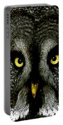 New Photographic Art Print For Sale   Great Grey Owl Portable Battery Charger