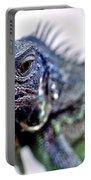 Close Up Beady Eyed Iguana Portable Battery Charger